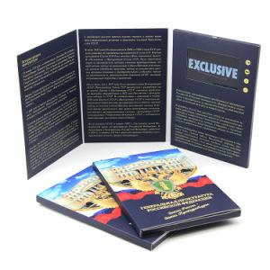 بروشور نمایشگر چاپگر 7 اینچی LCD نمایشگر دست ساز Tri-Folded Video Brochure کارت پستال دیجیتال Mailer کارت تبریک تبلیغاتی