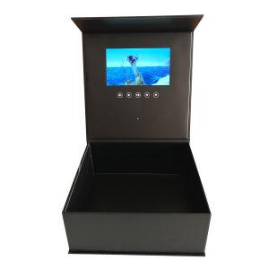 جعبه ویدیویی با کیفیت بالا 7 اینچ با بروشور پخش کننده فیلم Hardcover برای تبلیغات